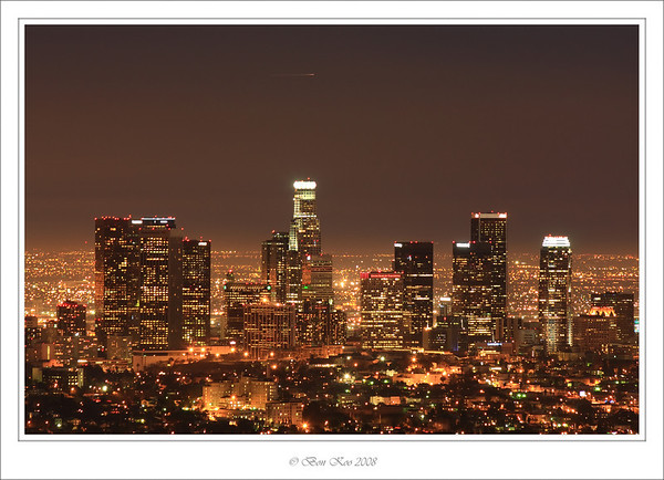 Night scene of Downtown LA taken from Griffith Observatory.