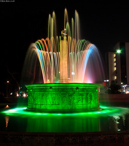 A water fountain at Beverly Hills